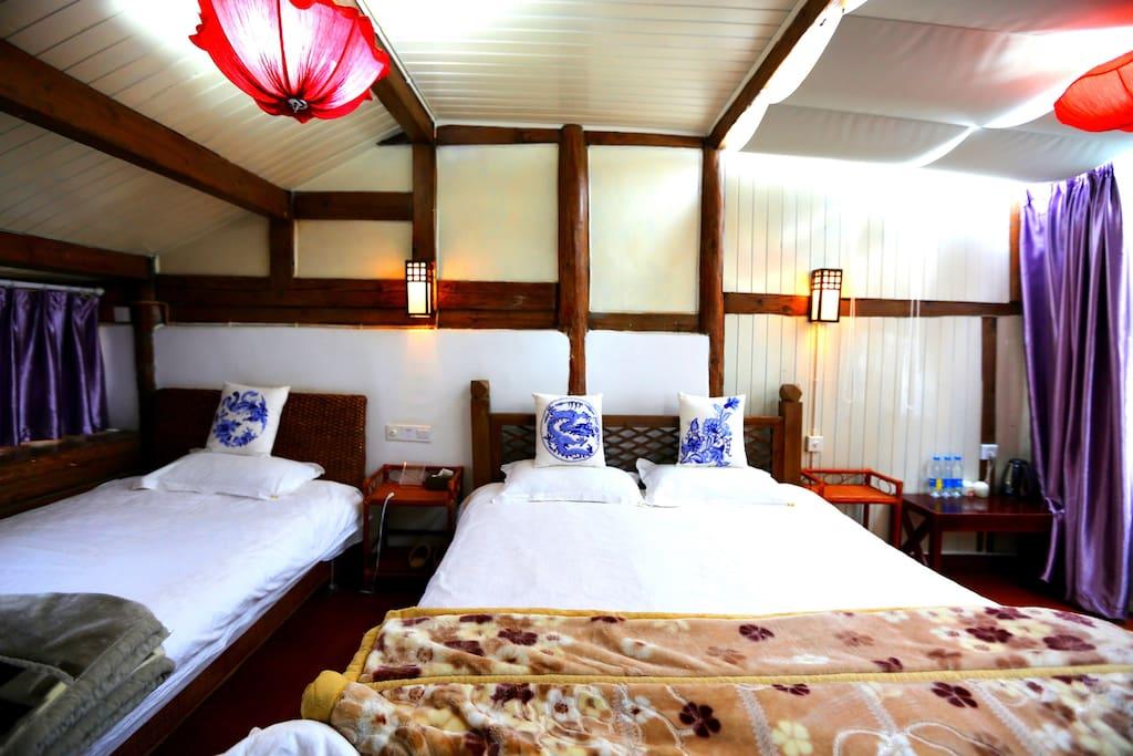 家庭房内部床位设置及摆放