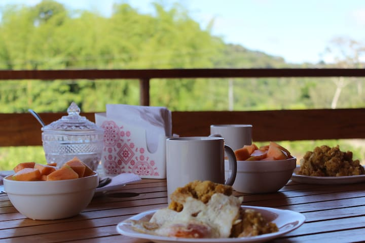 Have some  typical ecuadorian breakfast in the terrace