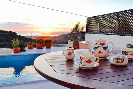Ionian Villa with amazing view - Faraklata