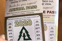 You get two National Forest Adventure Passes to use during your stay.