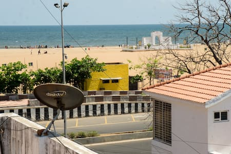 2BHK affordable house with A/C  at Elliot Beach.