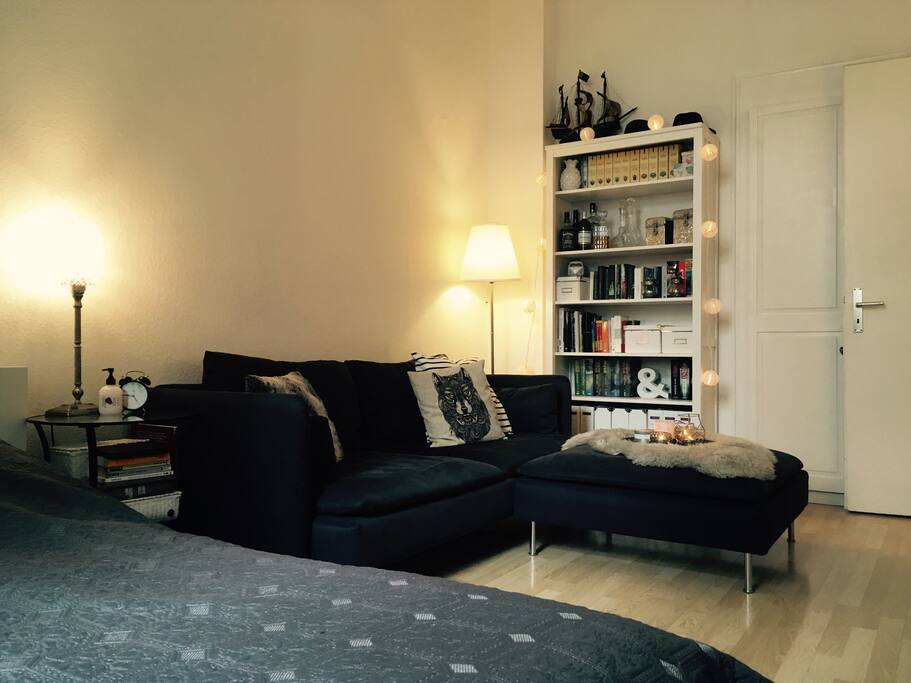 Living room, the couch