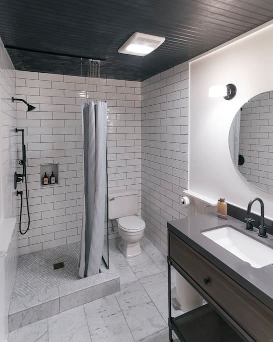 your luxurious bathroom, two steps away