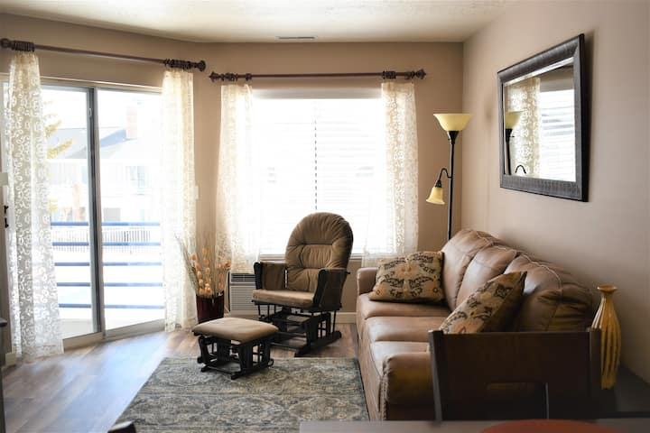 Inn Building #211 (Free Wi-Fi) Newly Remodeled ( new flooring, paint, furniture, bedding and decor)