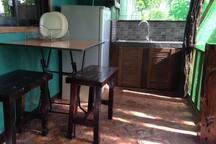 porch also serves as your mini kitchen