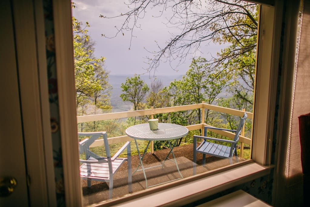 Enjoy your coffee on the master bedroom porch