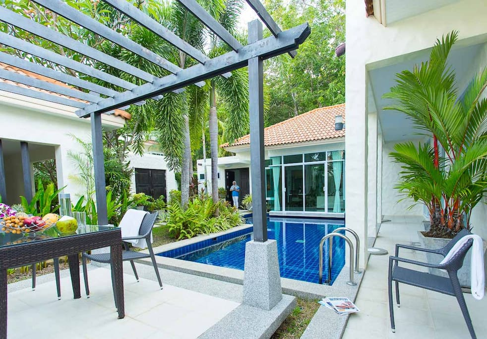 Pool and out door sitting area