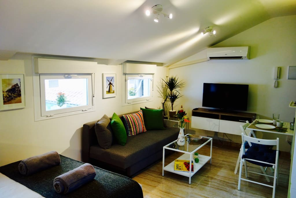living and entertainment area