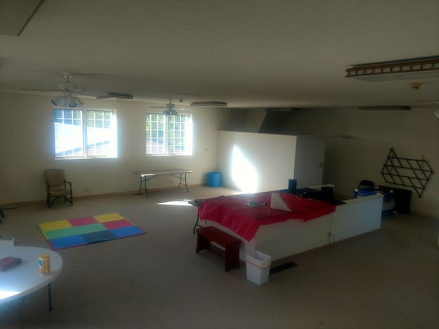 This large room is available upstairs for an additional fee.