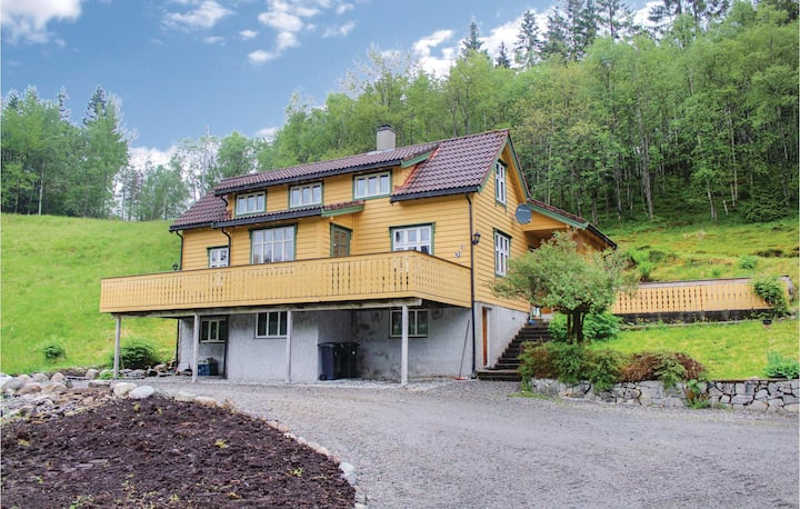 Awesome home in Eikefjord with WiFi and 4 Bedrooms