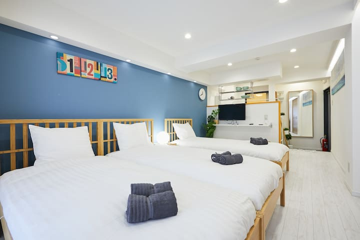 # 603★4 Beds Shinjuku, Kabukicho, Free pocket WiFi