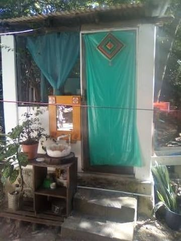 Eco-cabaña en medio de la selva