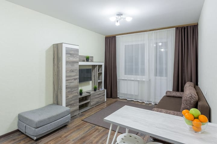 Квартира на 15 этаже с шикарным видом на город!