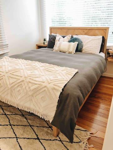 Bedroom 1 - Queen bed.