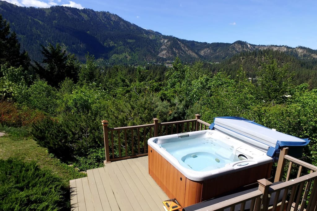 Take a dip in your own private hot tub.