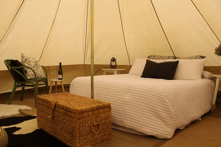 Glamping 4 Metre Bell Tent - Glenworth Valley