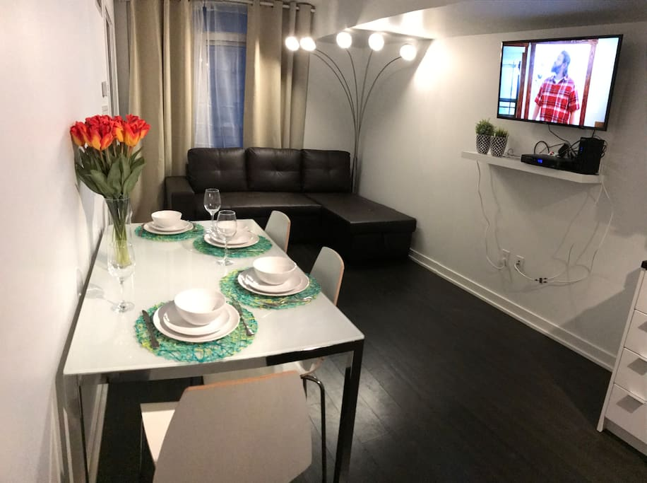 Dining area and TV