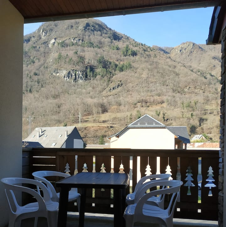 Pyrenean apartment /mountain view &  swimming-pool