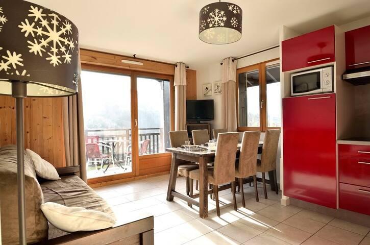 Bel Appartement 3 pièces 6p, navette gratuite aux pistes