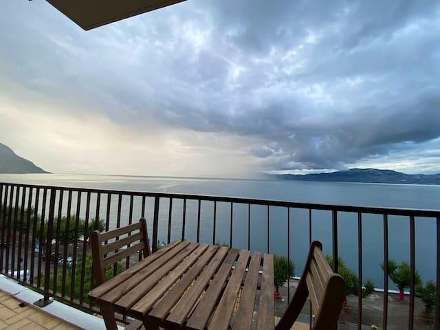 Appartement frontière Suisse, vue éblouissante