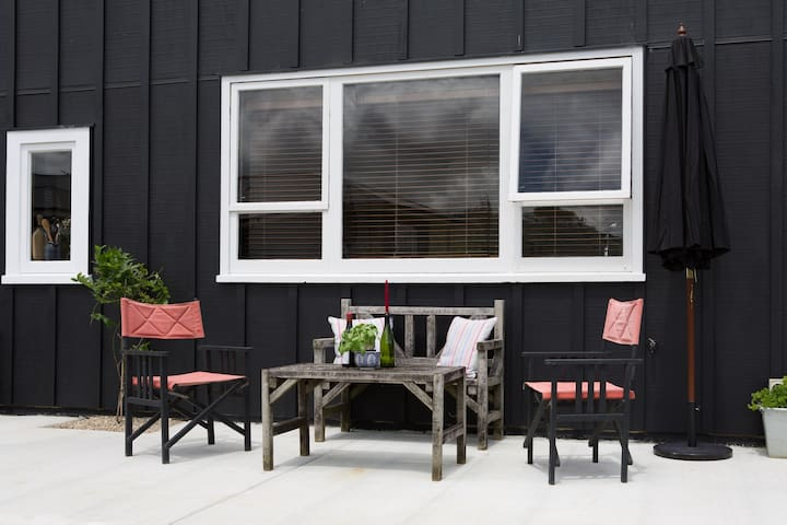 Sit and relax outside with beautiful  views all round. Y