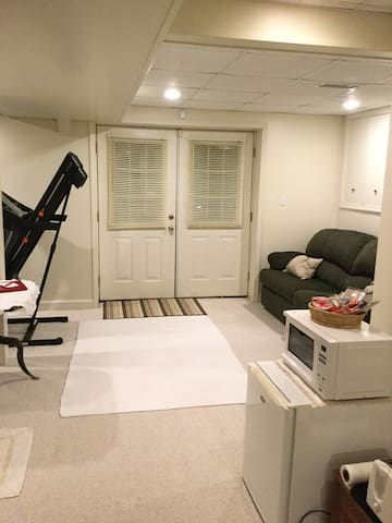 Private room in finished basement