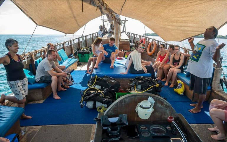 Take a fabulous dhow safari out to the marine park.