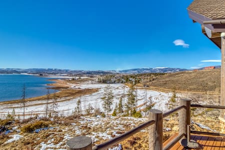 Luxury hillside home w/ home theater & Lake Granby view