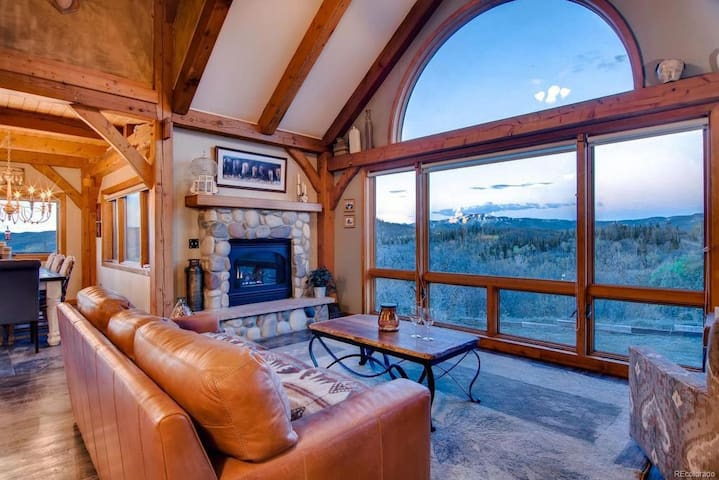 Rustic Mountain Home on 10 Acres - Deck w/Great Views - Hot Tub/Fire Pit