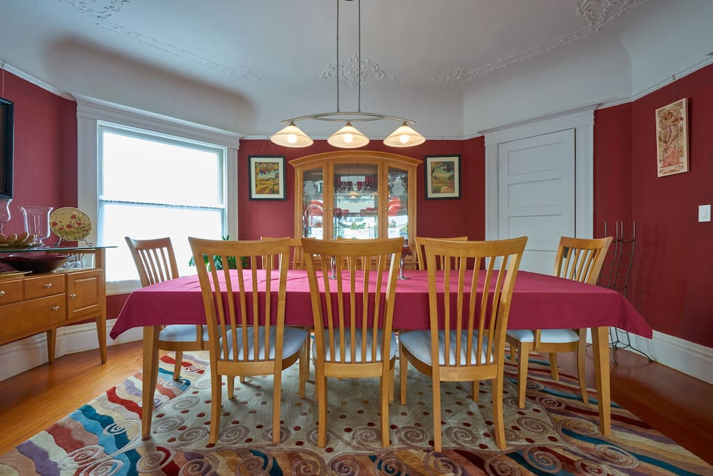 Dining Room - (Table & Chairs for 8, can be easily expanded to accommodate 10-12).  This photo was taken from Living Room.