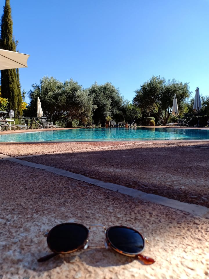 Villa with 6 bedrooms in Marrakech, with wonderful mountain view, private pool, enclosed garden