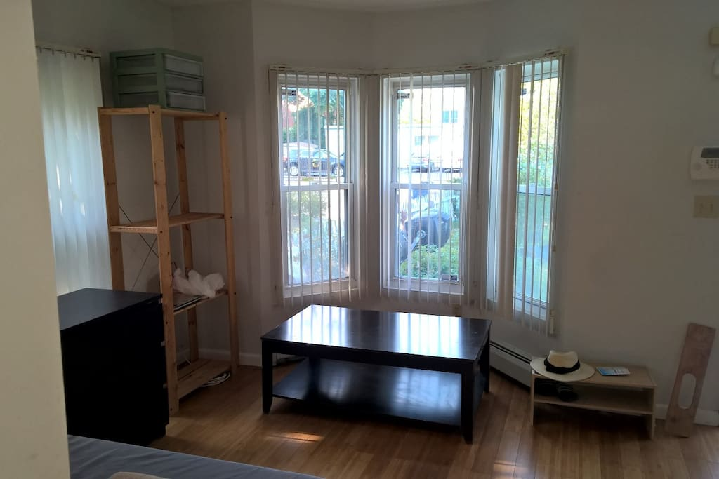 Sunny and airy, windows on 3 sides living room