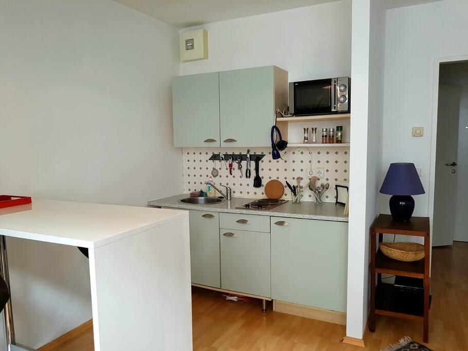 Wohnküche sowohl zum Essen als auch zum Arbeiten
