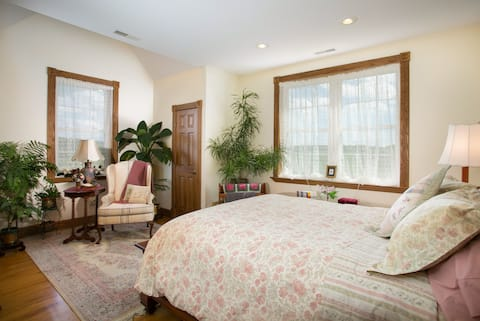 The Cozy Cherry Room is One of Our Most Popular Rooms