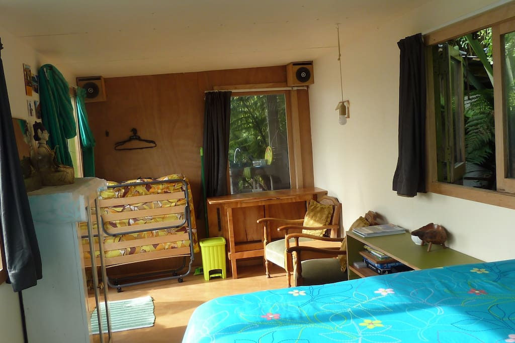 Roomy inside, lots of natural light by day and solar lights available during the night.