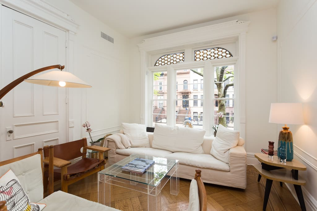 Huge new 1700sf brownstone duplex townhouses in affitto for Giardino 54 nyc