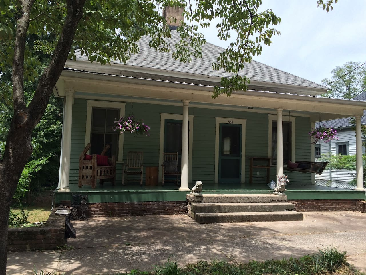 The front of our sweet restored house, built more than 100 years ago.