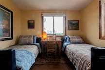 Second bedroom normally set up with king bed, but can be configured to two twin beds upon request.  Luxury 520-count cotton bedding.