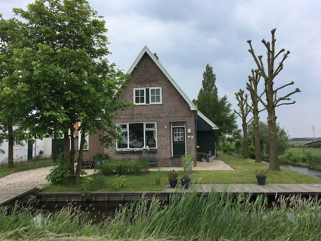 Idyllic farmhouse in the countryside of Amsterdam