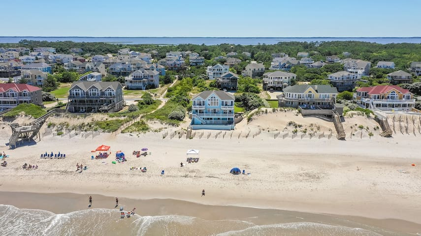 Saltaire Cottages: 8 BR Ocean Front w Pool Theater Elevator Private Beach Access