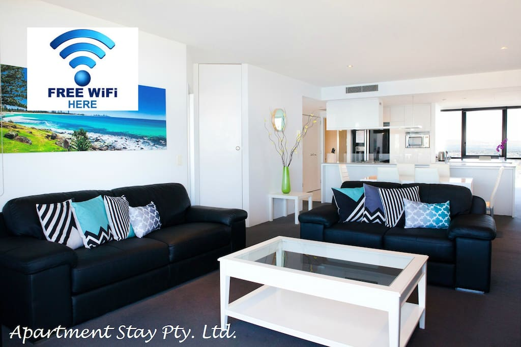Enjoy the Ocean and Beach view with large Full HD TV with Digital Channels, Foxtel/Sports.