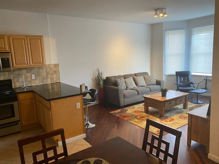 Renovated chick 2 bdrs 2 baths condo 20min to NYC