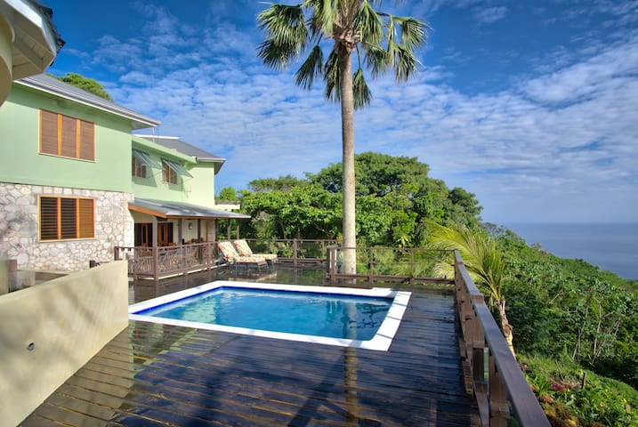 Montego Bay Villa w/views, pool, AC, wi-fi, staff