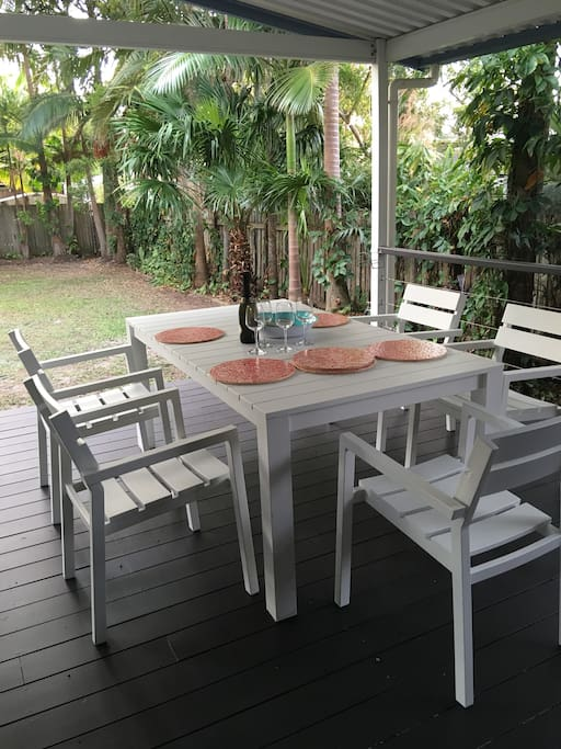 Dining Setting Back Deck