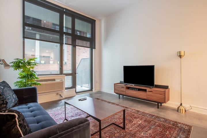 Furnished 1BR in Jersey City, Pool + Pet-Friendly