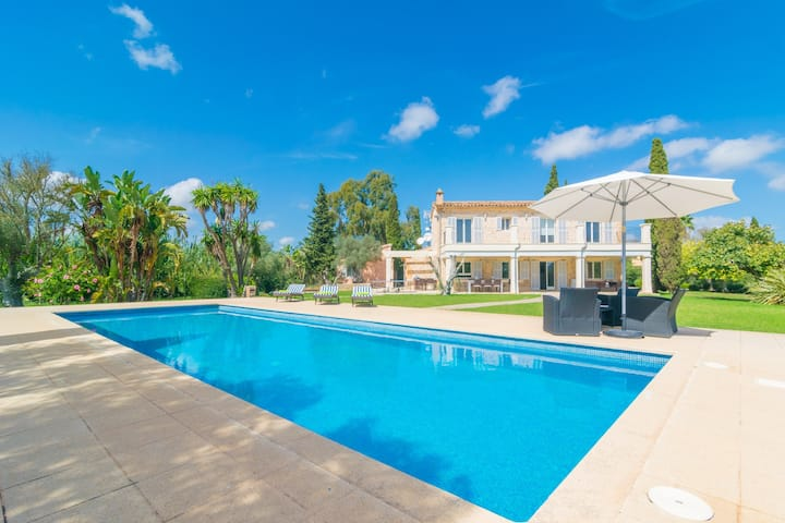 FINCA CANYAMEL BEACH & GOLF - Villa with private pool in Capdepera. Free WiFi