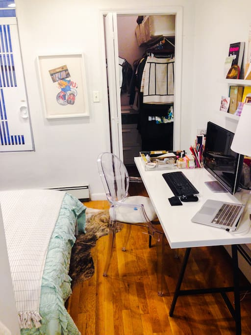 Desk space to plan your day in NY or catch-up on email