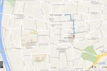 City center map - Karte Stadtzentrum - Mappa centro città -