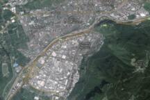 City satellite view - Satellitenansicht - Vista satellitare