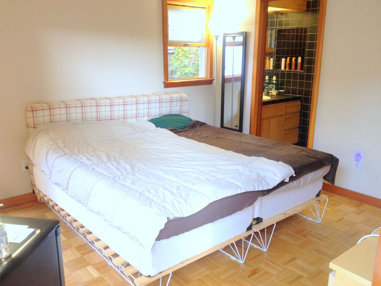 Two twin-size beds